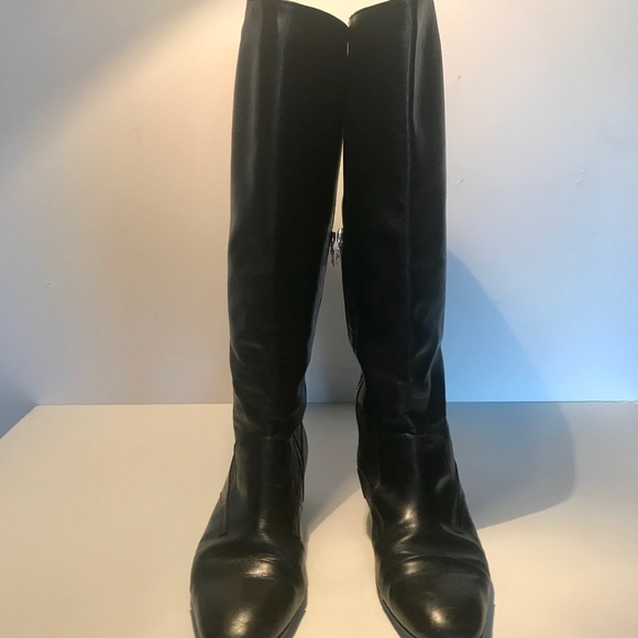 609e79fe3c Dries Van Noten Shoes - Tall leather riding boot by Dries Van Noten